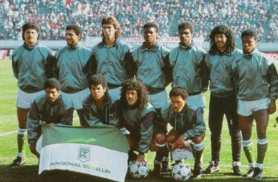 Atletico Nacional de Medellín en 89 lors de la Coupe Intercontinentale