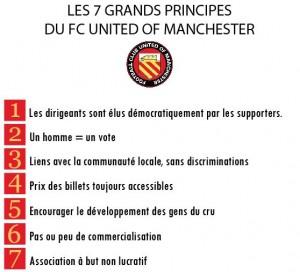 7 principes du United of Manchester