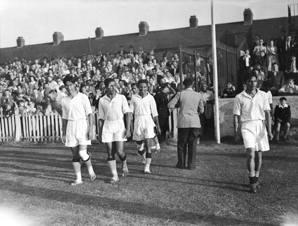 Aux Jeux Olympiques de Londres en 1948, les Indiens ont joué pieds nus.