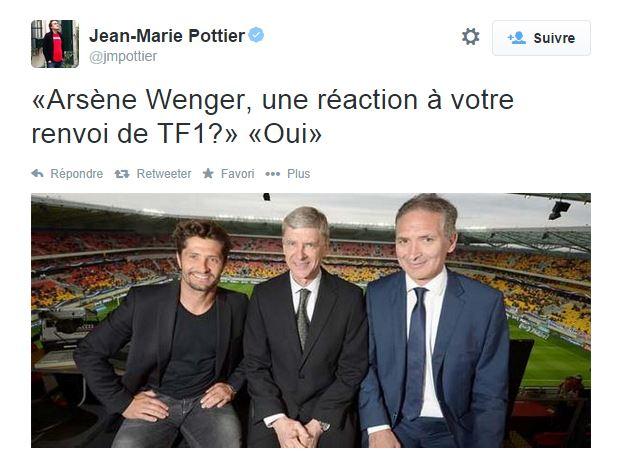 Arsène Wenger raillé sur Twitter