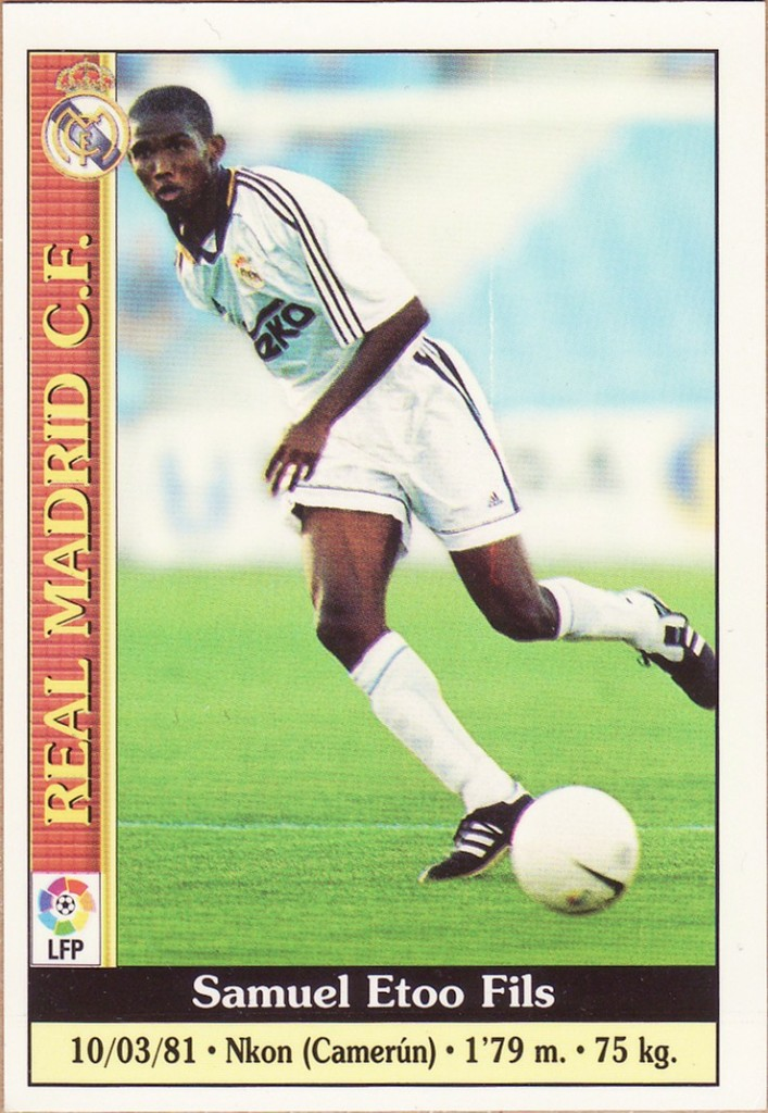 Samuel Eto'o en 1999 sous les couleurs du Real Madrid