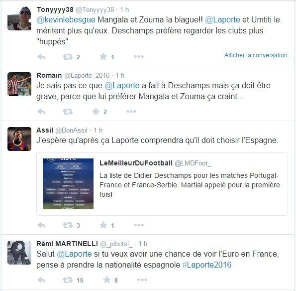 Les tweets d'Aymeric Laporte