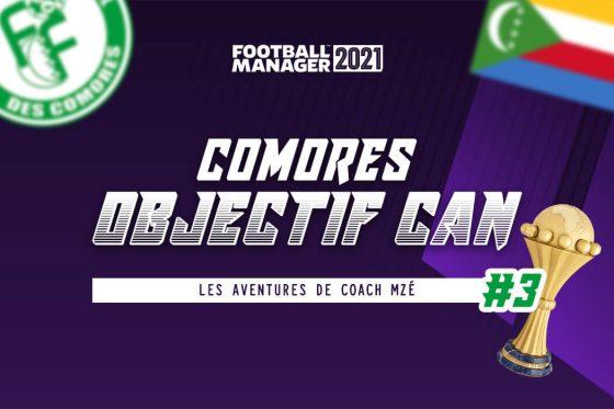 Football Manager 2021 : défi, Comores à la CAN